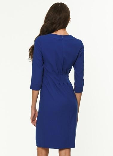 Yaka Detaylı Truvakar Kol Elbise-Jus De Pommes